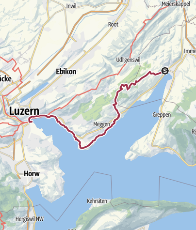 Karte / Waldstätterweg Etappe 3: Küssnacht - Luzern