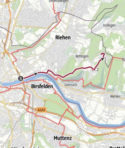Map / Von Basel nach St. Chrischona