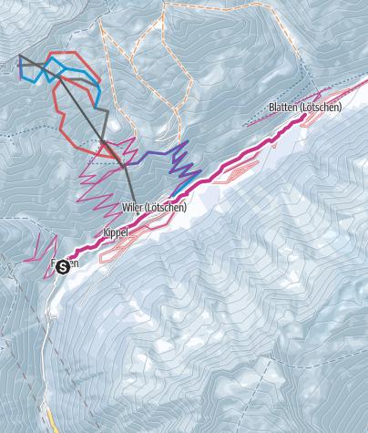 Map / Auf der Talroute durch das Lötschental
