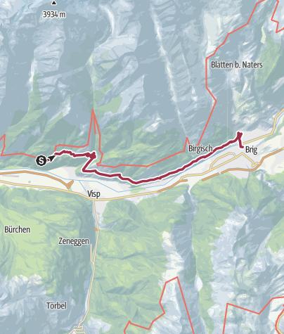 Carte / Lötschberg-Südrampe Ost