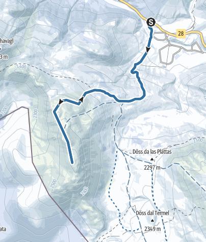 Map / Von Buffalora auf den Munt Buffalora