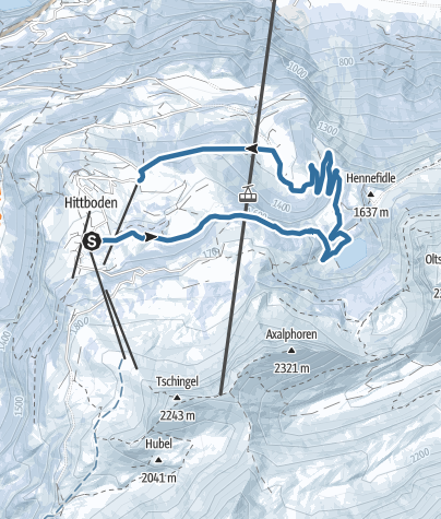 Map / Von der Axalp zum Hinterburgseeli