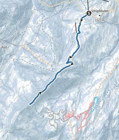 Map / Vom Jaunpass auf den Hundsrügg