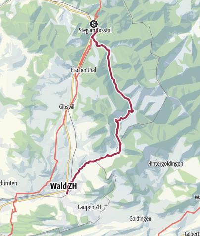 Map / Von Steg zur Brandenfelshöhle