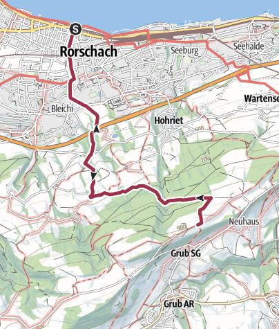 Cartina / Von Rorschach auf den Fünfländerblick
