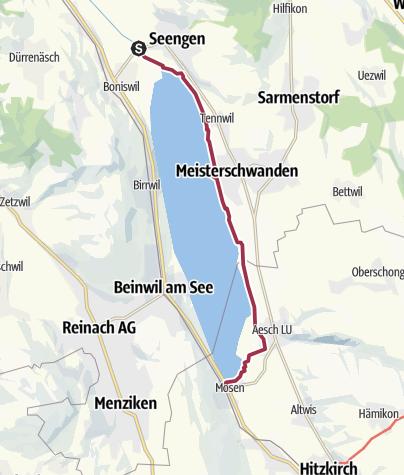 Map / Am Hallwilersee von Hallwil nach Mosen
