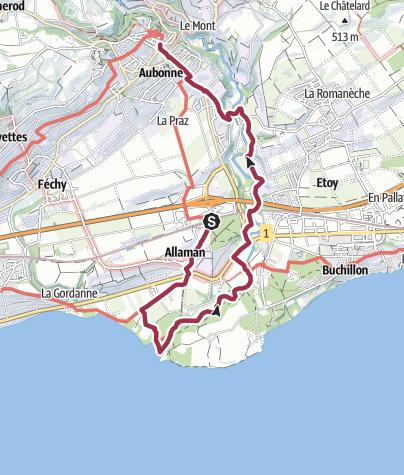 Map / Von Allaman nach Aubonne
