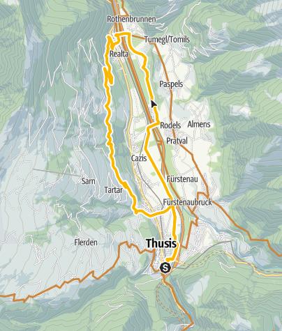 Karte / Heinzenberger Waldroute
