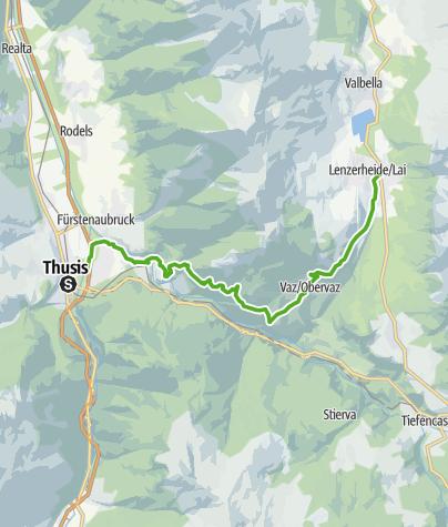 Karte / Historischer Schluchtweg - Alter Schin