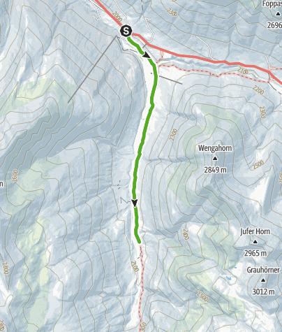 Karte / Murmeltier-Lehrpfad, Avers-Bergalga