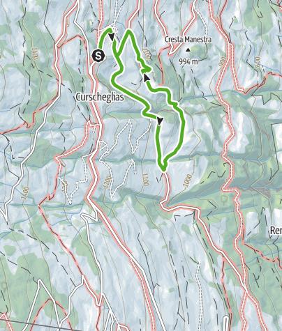 Kaart / Erlebniswanderweg Tilla, Präz