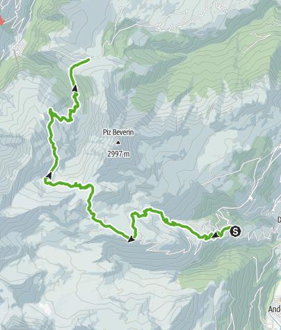 Map / viaCapricorn: Wergenstein - Glaspass