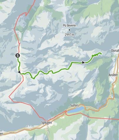 Karte / Via Capricorn: Turrahus - Wergenstein