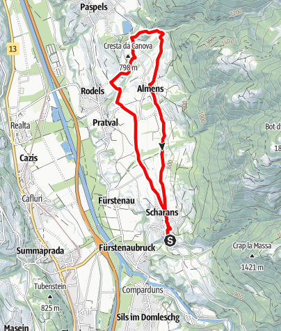 Map / Helsana Swiss Walking Trail, Domleschg