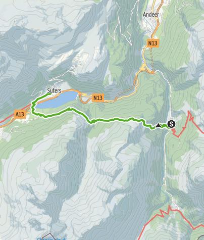 Cartina / Alp Nursera und Schwarzwald