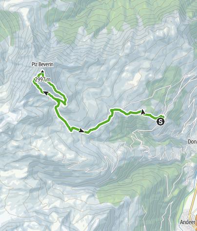 Karte / Piz Beverin