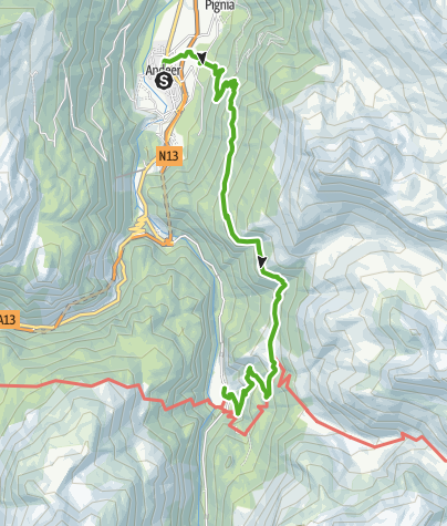 Kaart / Durch den Märchenwald ins Val Ferrera