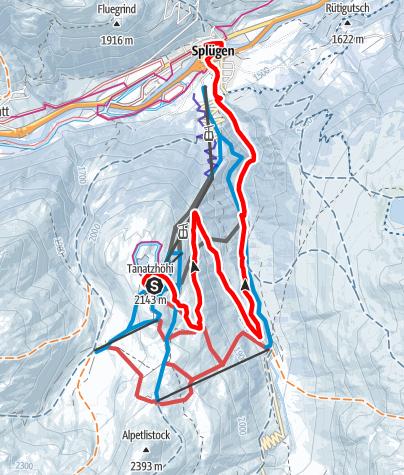 Karte / Tambo-Talweg (Bergstation Gondelbahn - Splügen)