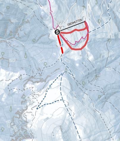 Kaart / Obermutten