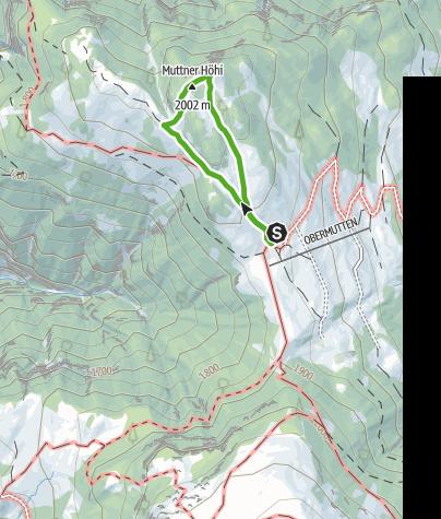 Kaart / Muttner Höhi