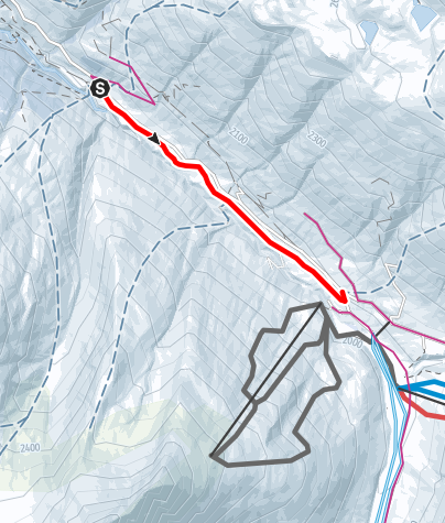 Karte / Avers-Pürt - Avers-Juppa