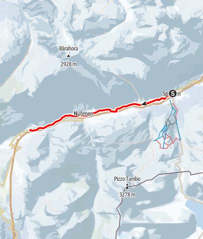 Karte / Talwanderung (Splügen-Medels-Nufenen-Hinterrhein)
