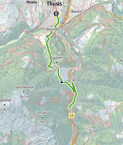 Karte / Thusis - Bofel - Viamala Besucherzentrum