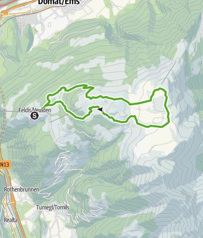 Karte / Feldis - Dreibündenstein - Rundwanderung