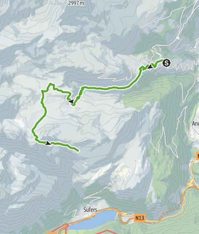 Karte / Wergenstein - Cufercalhütte (1. Etappe)