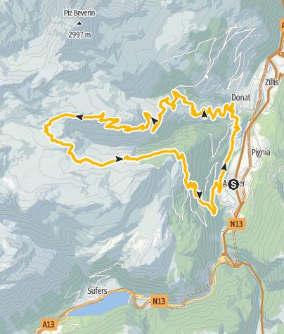 Karte / Curtginatsch