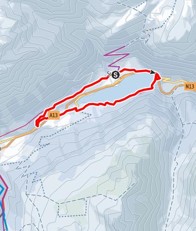 Karte / Seerundgang Sufers