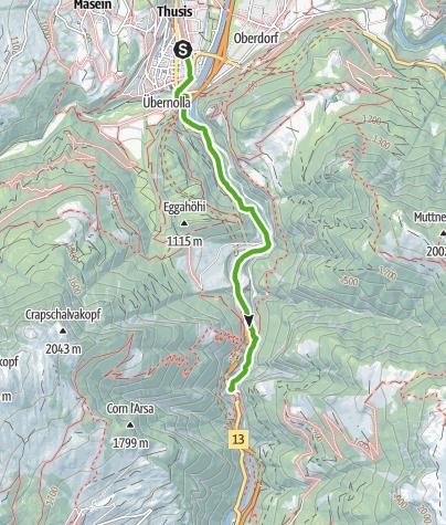 Karte / Thusis - Verlorenes Loch - Viamala Besucherzentrum