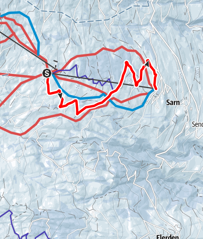 Karte / 836 Schlittelbahn Sarn