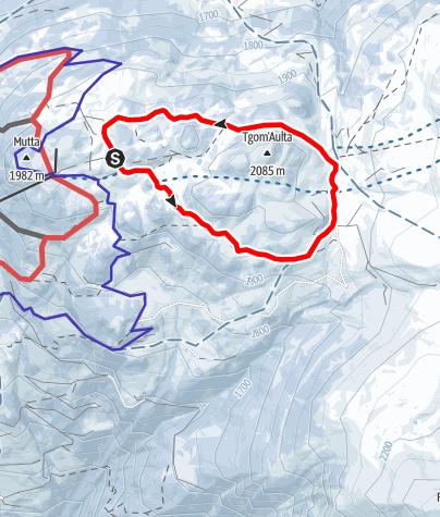 Karte / Feldis: Panoramaloipe Berg