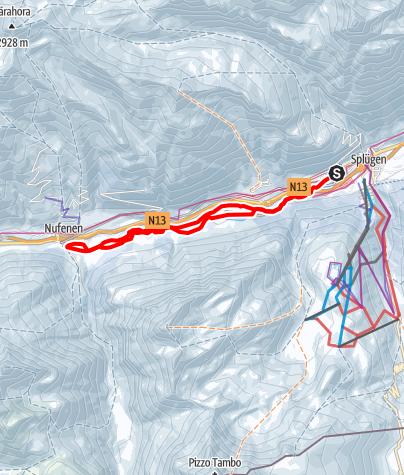 Karte / 278 Talloipe Rheinwald