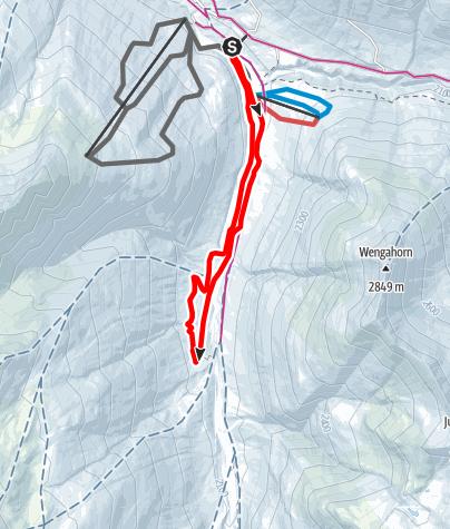 Karte / Langlaufloipe Avers-Bergalga