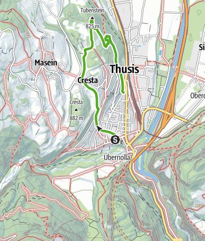Kaart / Thusner Spazierweg - Wo Reisende einst flanierten