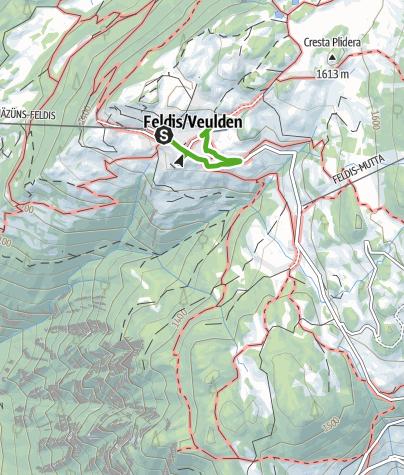 Kaart / Spazierweg Feldis