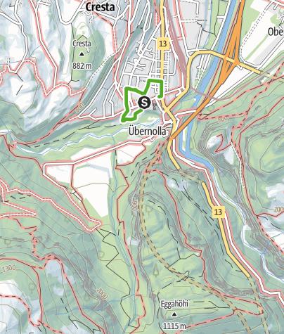 Karte / Thusner Spazierweg - Von Säumern und Kaufleuten