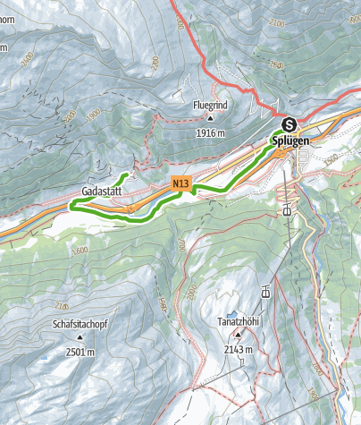 Karte / Rheinquellweg Transit