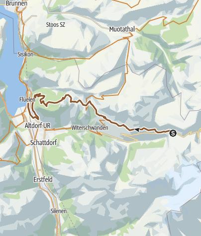 Karte / Klausenpass / Eggberge