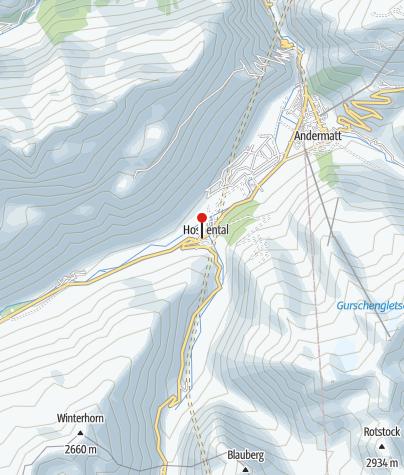 Karte / Jugendherberge Hospental