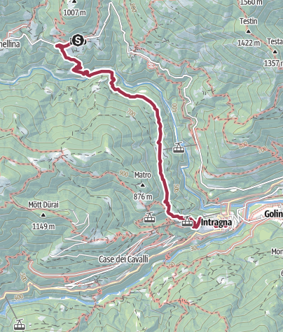 Map / From Loco to Intragna on the  «Via delle Vose»