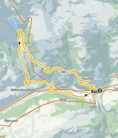 Karte / Die vier Burgen und der See