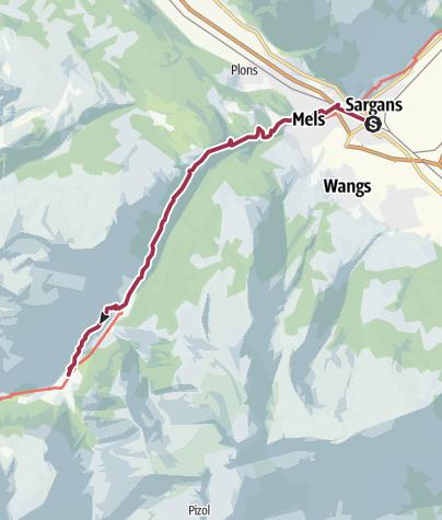 Karte / Via Alpina C3a: Sargans - Weisstannen