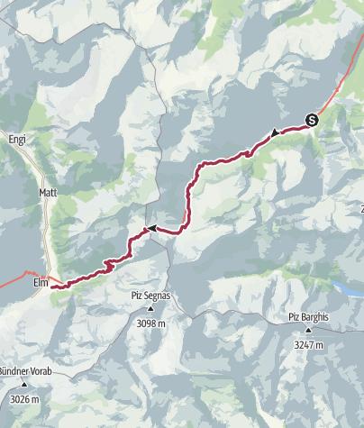 Karte / Via Alpina C3b: Weisstannen - Elm