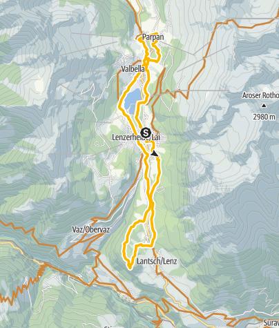 Karte / Talrunde Parpan - Lenz