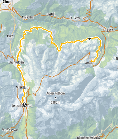 Karte / GrischaTrail: Lenzerheide - Arosa