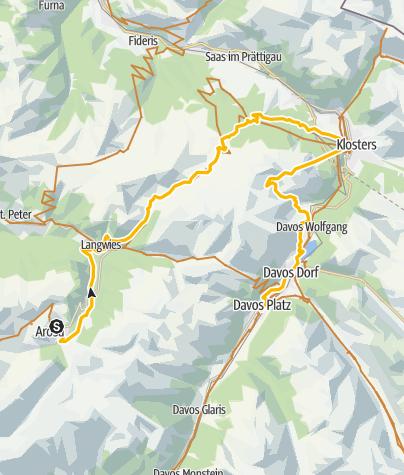 Karte / GrischaTrail: Arosa - Davos