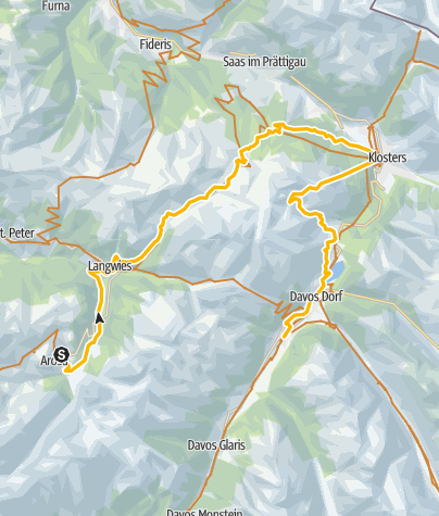 Kaart / GrischaTrail: Arosa - Davos